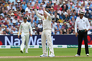 Steve Smith of Australia reacts after bowling a delivery during the International Test Match 2019 match between England and Australia at Edgbaston, Birmingham, United Kingdom on 3 August 2019.
