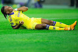 Injured Didier Drogba of Chelsea during football match between NK Maribor, SLO  and Chelsea FC, ENG in Group G of Group Stage of UEFA Champions League 2014/15, on November 5, 2014 in Stadium Ljudski vrt, Maribor, Slovenia. Photo by Vid Ponikvar / Sportida