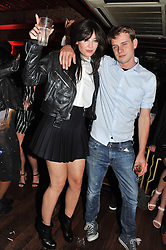 DAISY LOWE and JW ANDERSON at the JW Anderson Top Shop Party held at Madame Jojo's, 8-10 Brewer Street, London W1 on 17th September 2012.