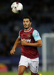 James Tomkins of West Ham United in action  - Mandatory byline: Jack Phillips/JMP - 07966386802 - 22/09/2015 - SPORT - FOOTBALL - Leicester - King Power Stadium - Leicester City v West Ham United - Capital One Cup Round 3