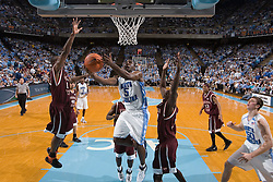 13 February 2007: North Carolina Tar Heels guard Ty Lawson (5) during a 81-80 Virginia Tech Hokie overtime win over the North Carolina Tar Heels, in the Dean E. Smith Center in Chapel Hill, NC.