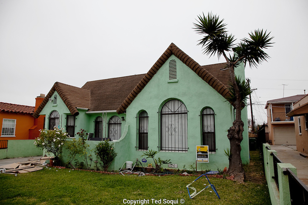 "Home of the ""Grim Sleeper"" serial killer, Lonnie David Franklin Jr. located in South Central, L.A."