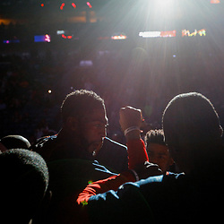 Mar 31, 2017; New Orleans, LA, USA; New Orleans Pelicans forward Anthony Davis (23) huddles with his team before a game against the Sacramento Kings at the Smoothie King Center. Mandatory Credit: Derick E. Hingle-USA TODAY Sports