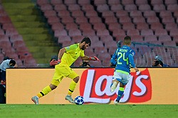 NAPLES, ITALY - Wednesday, October 3, 2018: Liverpool's goalkeeper Alisson Becker during the UEFA Champions League Group C match between S.S.C. Napoli and Liverpool FC at Stadio San Paolo. (Pic by David Rawcliffe/Propaganda)