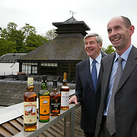FREE TO USE PIC....Scotch whisky distiller Edrington, maker of The Famous Grouse, today (Tuesday 27th May) announced that its operations director Ian Curle (right) has been selected to succeed Ian Good (left) as chief executive when the<br />