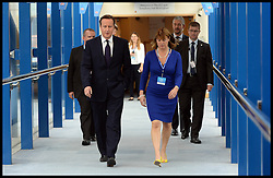 Image ©Licensed to i-Images Picture Agency. 28/09/2014. Birmingham, United Kingdom. The Prime Minister David Cameron with Rachel Maclean Prospective MP for Birmingham Northfield  at the 2014 Conservative Party Conference.Picture by Andrew Parsons / i-Images