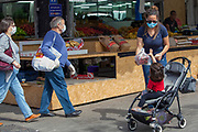 The outbreak of COVID-19 has forced governments around the world to impose a civil quarantine. The outcome of this are empty streets and public places. The only stores that remain open are food shops and essential products. Photographed at the Netanya market, Israel on March 29th 2020