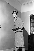 Nelli Mulcahy Spring Collection was shown at her home Lissonfield House, Rathmines, Dublin. .30.01.1963