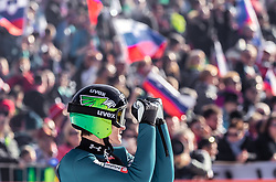 22.03.2019, Planica, Ratece, SLO, FIS Weltcup Ski Sprung, Skiflug, Einzelbewerb, Wertungssprung, Finale, im Bild Peter Prevc (SLO) // Peter Prevc of Slovenia during his competition jump of the Ski Flying Hill individual competition of the FIS Ski Jumping World Cup Final 2019. Planica in Ratece, Slovenia on 2019/03/22. EXPA Pictures © 2019, PhotoCredit: EXPA/ JFK