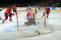KELOWNA, CANADA - APRIL 14: Cole Kehler #31 of the Portland Winterhawks misses a save against the Kelowna Rockets on April 14, 2017 at Prospera Place in Kelowna, British Columbia, Canada.  (Photo by Marissa Baecker/Shoot the Breeze)  *** Local Caption ***