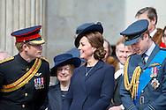 13-3-2015 LONDON Britse koningin stevent af op record<br /> De Britse koningin Elizabeth staat op het punt een record te breken, dat lang voor onbereikbaar werd gehouden. Op 9 september zit ze langer op de Britse troon dan al haar voorgangers. Ze passeert dan koningin Victoria, die regeerde van 1837 tot 1901, een totaal van 63 jaar en 217 dagen. Britains queen Elisabeth Catherine, Duchess of Cambridge, Britains Prince Harry, and Britains Prince William, Duke of Cambridge and the Queen and Charles and Camilla for a Service of Commemoration for those who served in Afghanistan at St Pauls Cathedral in central London on March 13, 2015. COPYRIGHT ROBIN UTRECHT