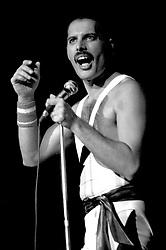 September 7, 1984 - London, London, England - Freddie Mercury von Queen bei einem Konzert der 'Works'-Tour in der Wembley Arena. London, 07.09.1984 (Credit Image: © Future-Image via ZUMA Press)