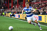 Queens Park Rangers Defender Jake Bidwell (3) in action during the EFL Sky Bet Championship match between Brentford and Queens Park Rangers at Griffin Park, London, England on 2 March 2019.
