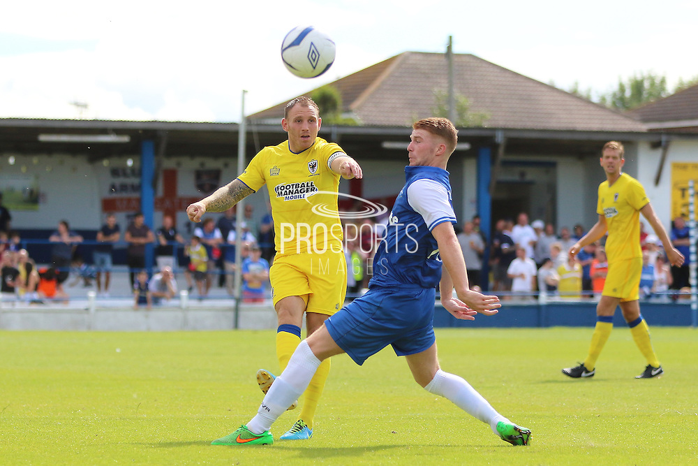 AFC Wimbledon defender Barry Fuller (2) during the Pre-Season Friendly match between Margate and AFC Wimbledon at Hartsdown Park, Margate, United Kingdom on 16 July 2016. Photo by Stuart Butcher.