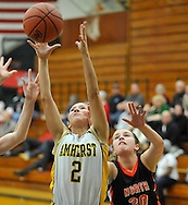 Amherst vs North Olmsted girls varsity basketball on February 20, 2012 at Elyria Catholic High School.