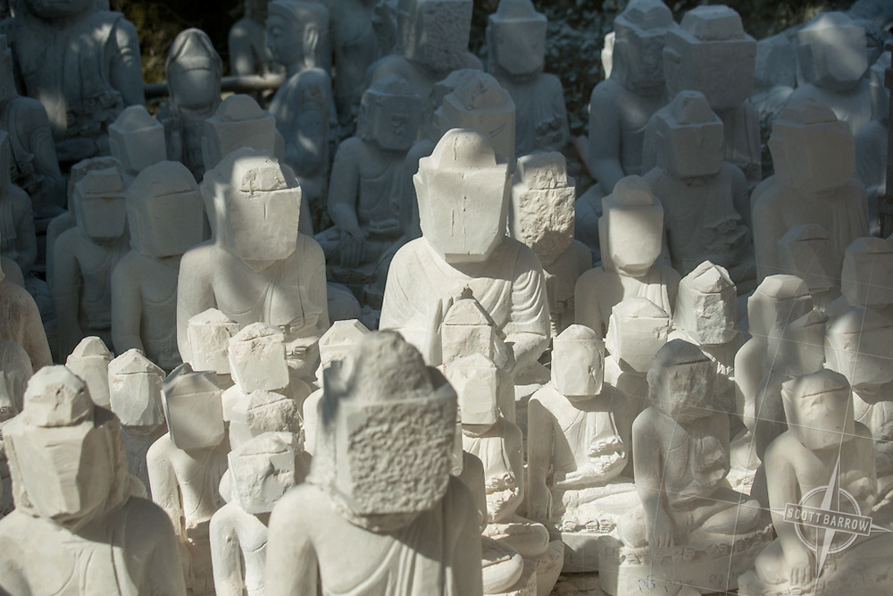 Scenes from the marble Buddha factory in Mandalay, Myanmar.