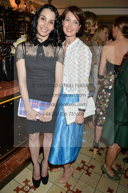 Left to right, ballerinas TAMARA ROJO and LAUREN CUTHBERTSON at a dinner hosted by Kate Spade NY to celebrate Chelsea in Bloom held at Daphne's, 112 Draycott Avenue, London on 20th May 2015.