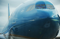 June 22, 2017 - Moscow, Russia - The track of Domodedovo airpor is reflecting in the top of a plane of VietnamAirlines, which  is preparing for flight at the Moscow airport of Domodedovo, Moscow, Russia, on June 22, 2017  (Credit Image: © Hristo Rusev/NurPhoto via ZUMA Press)