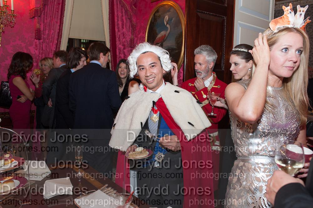 FRANK NGYEN; KATE REARDON, Tatler magazine Jubilee party with Thomas Pink. The Ritz, Piccadilly. London. 2 May 2012