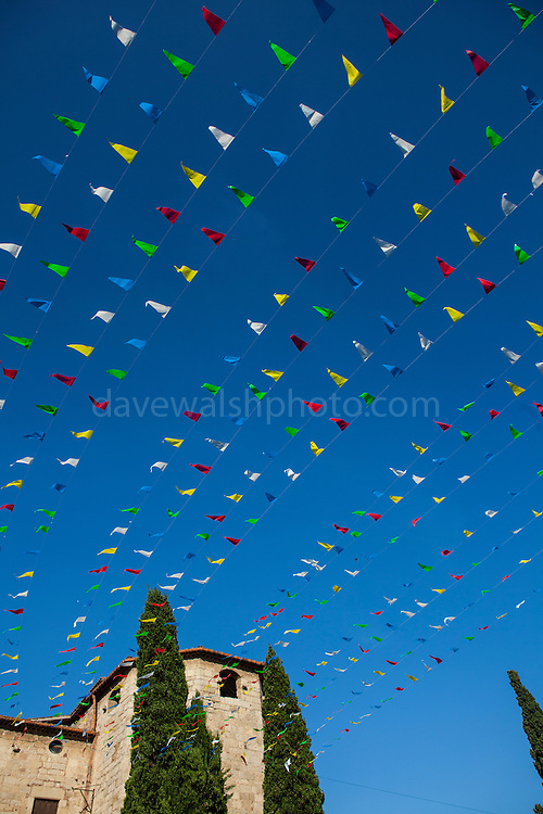 Coloured flags, Festa Major in Sant Cugat del Valles