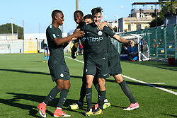 November 1, 2017 - Naples, Italy - Benjamin Garre of Manchester City celebration during the UEFA Youth League Group F match between SSC Napoli and Manchester City on November 1, 2017 in Naples, Italy. (Credit Image: © Matteo Ciambelli/NurPhoto via ZUMA Press)