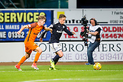 Dundee midfielder Scott Allan (#10) looks to cross the ball into the penalty area as Dundee United midfielder Billy King (#11) attempts to block during the Betfred Scottish Cup match between Dundee and Dundee United at Dens Park, Dundee, Scotland on 9 August 2017. Photo by Craig Doyle.