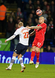 BOLTON, ENGLAND - Wednesday, February 4, 2015: Liverpool's Martin Skrtel in action against Bolton Wanderers during the FA Cup 4th Round Replay match at the Reebok Stadium. (Pic by David Rawcliffe/Propaganda)