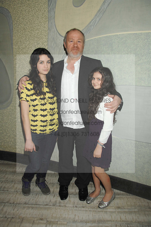 Left to right, VINCE POWER and his daughters NELL and EVIE at the launch party for 'The End of Summer Ball' in Berkeley Square held at Nobu Berkeley, 15 Berkeley Street, London on 7th April 2008.<br />