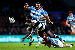 Frank Lomani of Barbarians is tackled - Mandatory by-line: Robbie Stephenson/JMP - 01/12/2018 - RUGBY - Twickenham Stadium - London, England - Barbarians v Argentina - Killick Cup