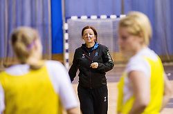 Head coach Marta Bon during practice session of Slovenian Women handball National Team three days before match against Serbia, on October 24, 2013 in Arena Tivoli, Ljubljana, Slovenia. (Photo by Vid Ponikvar / Sportida)