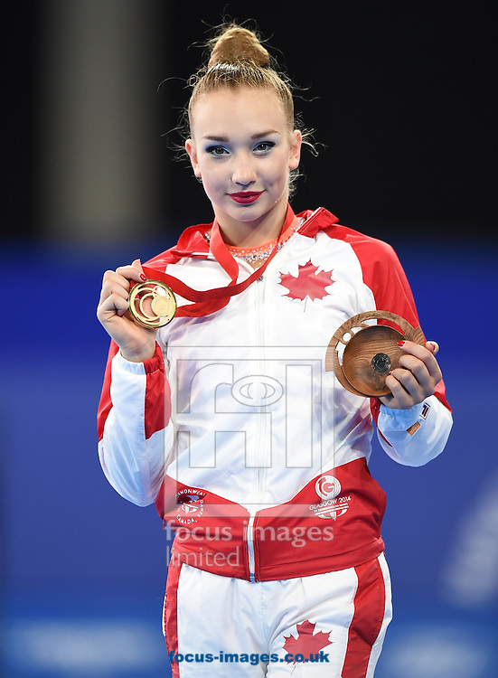 Patricia Bezzoubenko CAN  gold medal winner  in the Rhythmic Gymnastics Hoops final at SSE Hydro, Glasgow<br /> Picture by Alan Stanford/Focus Images Ltd +44 7915 056117<br /> 26/07/2014