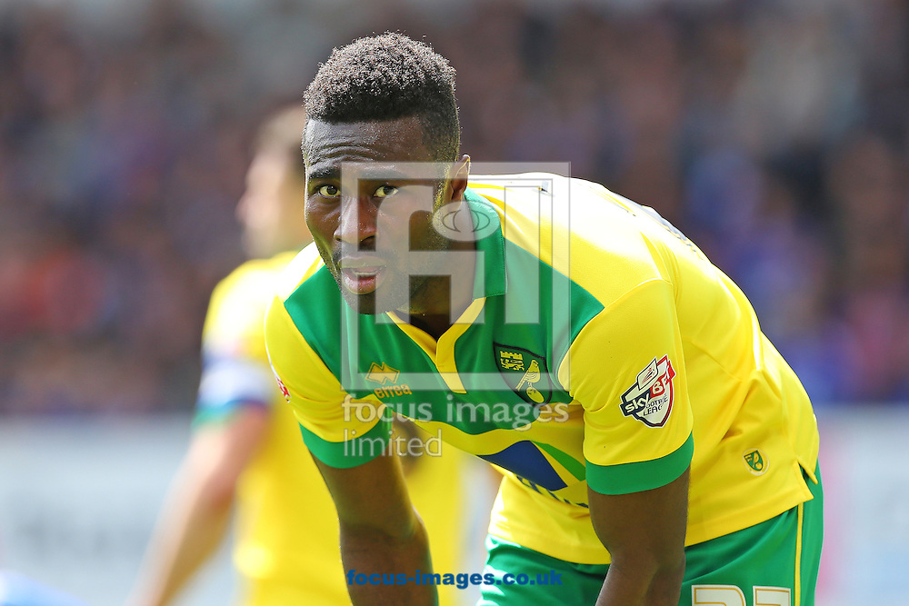 Alexander Tettey of Norwich City looks on during the Sky Bet Championship play off semi final first leg at Portman Road, Ipswich<br /> Picture by Richard Calver/Focus Images Ltd +44 7792 981244<br /> 09/05/2015
