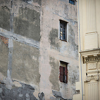 Cuba, Havana central, along el prado, architecture