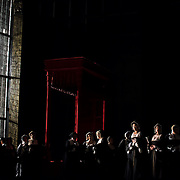 September 23, 2015 - New York, NY : A scene from a dress rehearsal of Gaetano Donizetti's 'Anne Bolena' at the Metropolitan Opera at Lincoln Center on Wednesday. CREDIT: Karsten Moran for The New York Times