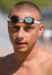 Emil Tahirovic at practice of Slovenian swimmers before World Championships in Rome, on July 23 2009, in Kranj, Slovenia. (Photo by Vid Ponikvar / Sportida)