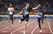 Sergey Shubenkov (RUS) wins the 110m hurdles in 13.26 during the 39th Golden Gala Pietro Menena in an IAAF Diamond League meet at Stadio Olimpico in Rome on Thursday, June 6, 2019. (Jiro Mochizuki/Image of Sport)