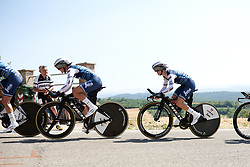 Ruth Winder (USA) in the Trek Segafredo train at Stage 1 of 2019 Giro Rosa Iccrea, an 18 km team time trial from Cassano Spinola to Castellania, Italy on July 5, 2019. Photo by Sean Robinson/velofocus.com