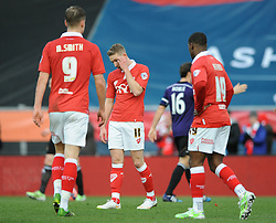 Bristol City's Scott Wagstaff cuts a dejected figure at the end of the game - Photo mandatory by-line: Dougie Allward/JMP - Mobile: 07966 386802 - 25/01/2015 - SPORT - Football - Bristol - Ashton Gate - Bristol City v West Ham United - FA Cup Fourth Round