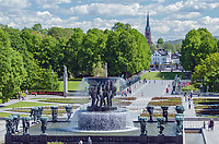 Vigelandsparken Sculpture Park in Oslo, Norway.