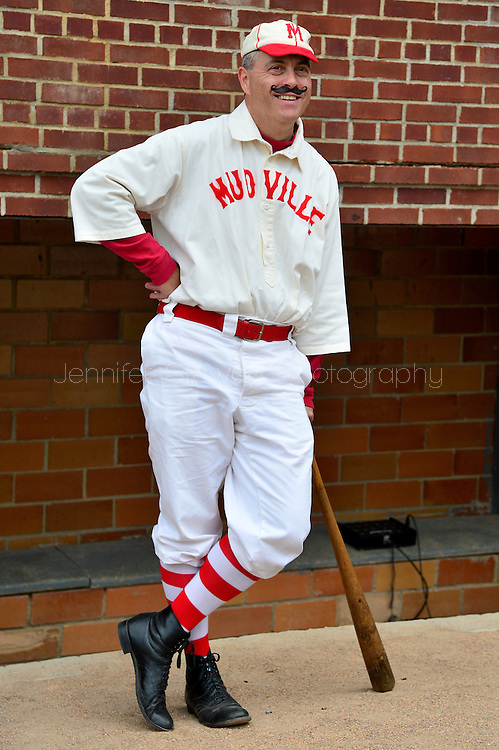 COOPERSTOWN, NY - JULY 25: Man dressed in a Mudville Nine uniform at Doubleday Field on July 25, 2015 in Cooperstown, NY. (Photo by Jennifer Stewart/Arizona Diamondbacks/Getty Images)