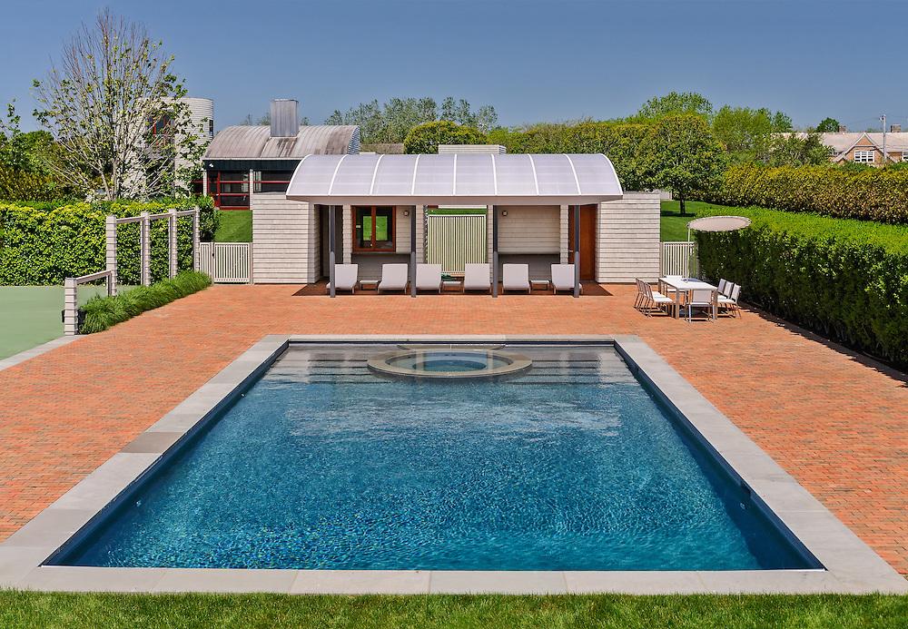 Swimming Pool, Modern Home, designed by Charles Gwathmey, Sagaponack, New York