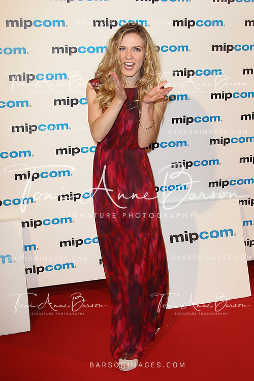 CANNES, FRANCE - OCTOBER 08:  Sara Canning attends MIPCOM 2012 Opening Party as part of MIPCOM 2012 at Hotel Martinez on October 8, 2012 in Cannes, France.  (Photo by Tony Barson/WireImage)