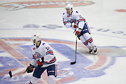 Amerks forward Cole Schneider skates with the puck during a game against the Springfield Falcons at the Blue Cross Arena in Rochester on Friday, March 4, 2016.
