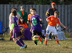 24 January 2016. Houma, Louisiana. <br /> New Orleans Jesters Youth Academy U10 Green vs Lafourche Legacy U11's. <br /> Photo©; Charlie Varley/varleypix.com