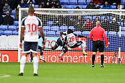 Bolton Wanderers defender Aristote Nsiala score an own goal during the EFL Sky Bet League 1 match between Bolton Wanderers and Wycombe Wanderers at the University of  Bolton Stadium, Bolton, England on 15 February 2020.