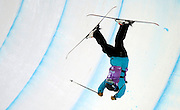 Jamie Crane-Mauzy (USA) falls during the women's halfpipe competition at Park City Mountain Resort on Saturday, January 18, 2014.