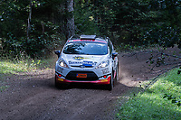 2019-09-07 | Linköping, Sweden: Lukas Hägg / Anton Johansson  during East Rally Sweden / Rally SM  at Linköping ( Photo by: Simon Holmgren | Swe Press Photo )<br /> <br /> Keywords: Linköping, Linköping, Rally, East Rally Sweden / Rally SM, ,