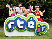 Repro Free: 15/10/2014 Donncha O'Callaghan joined the stars of the new series Twigín, to launch an exciting new season of programming on RTÉJr, the award-winning TV, Radio and Online service designed specifically for youngsters aged under 7 and their older friends and family. Donncha will present a new series called What's Your Game? on RTÉjr from 3 November 2014 as part of RTÉjr Awesome Autumn schedule. Donncha is pictured with Clara Murray, Emma O'Driscoll, Muireann Ní Chiobháin and Seamus the Dog and Bláithín the flower fairy. Picture Andres Poveda Photography