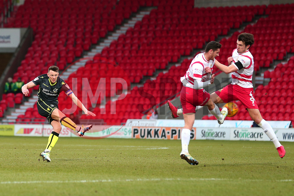 Ollie Clarke of Bristol Rovers shoots at goal - Mandatory by-line: Robbie Stephenson/JMP - 27/01/2018 - FOOTBALL - The Keepmoat Stadium - Doncaster, England - Doncaster Rovers v Bristol Rovers - Sky Bet League One