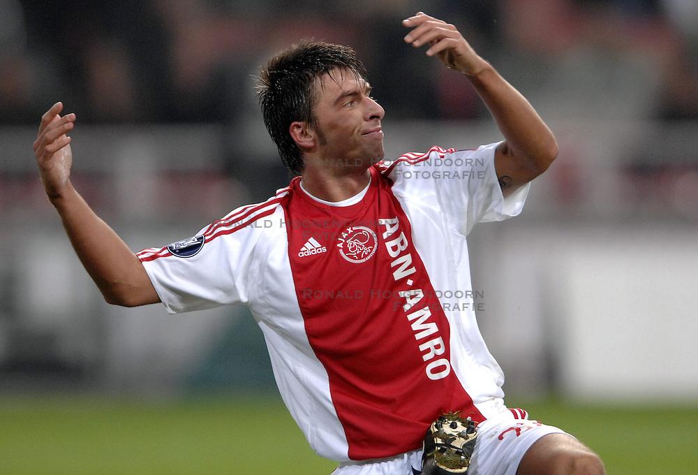 30-11-2006 VOETBAL: AJAX - ESPANYOL: AMSTERDAM<br /> Ajax verliest kansloos van Espanyol met 0-2 / Zdenek Grygera<br /> &copy;2006-WWW.FOTOHOOGENDOORN.NL